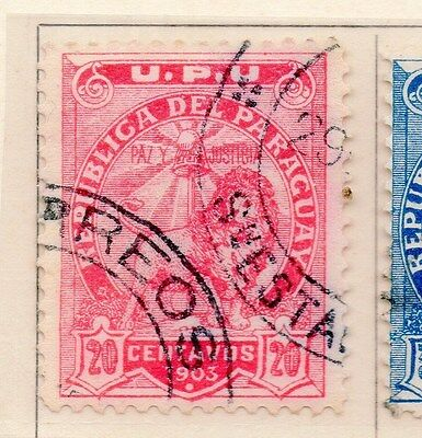Paraguay 1903 Early Issue Fine Used 20c. 154904