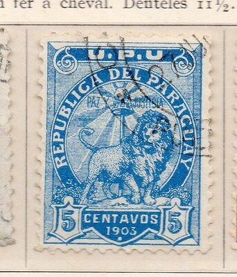 Paraguay 1903 Early Issue Fine Used 5c. 154902