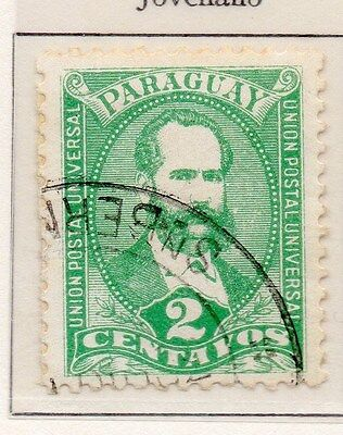 Paraguay 1892 Early Issue Fine Used 2c. 154852