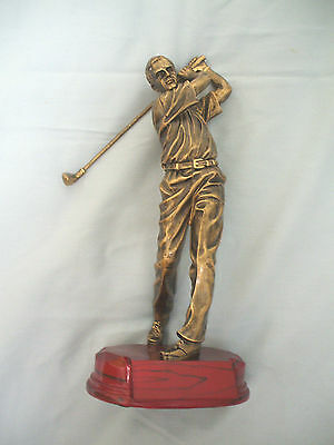 male GOLF swing trophy resin gift award MPI RF3321C large