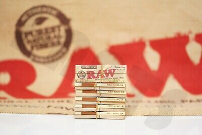 6 Packs Of Raw Rolling Paper Organic Connoisseur 1 1/4+Tips Natural Unrefined
