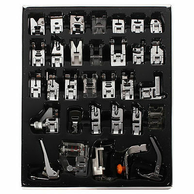 32pcs Presser Foot Feet For Janome Brother Singer Domestic Sewing Machine Part