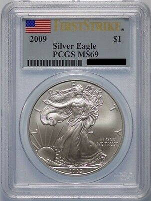 2009 American Silver Eagle, PCGS MS-69 First Strike