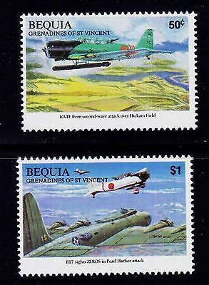 Bequia - St. Vincent Grenadines Scott#287-288 Mnh Japanese Attack Pearl Harbor