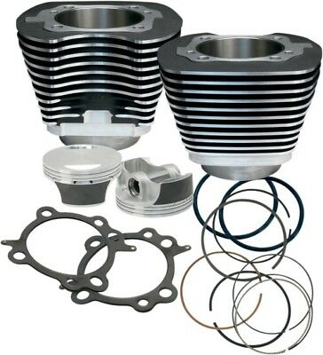 S S Cycle Black 106 Big Bore Kit for Harley 07-15 Twin Cam Motors 910-0206
