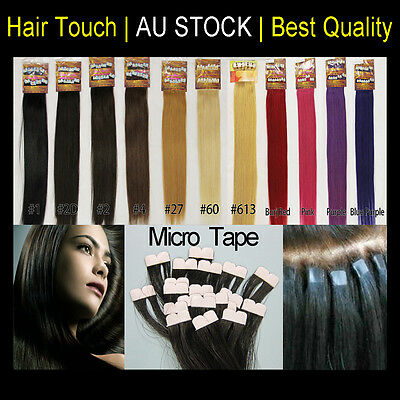 """22"""" Micro Tape European Remy Human Hair Extension Upgraded New Technique"""