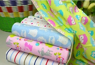 1x Carters 100% Cotton Flannel Baby Girl Boy Blanket Sheet Cot Bed Pram 76x76cm