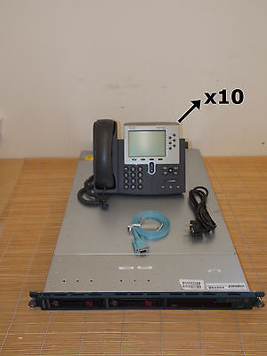 Cisco MCS7828H3-K9-BE Call Manager BE 6.1 Device License 260 Units +10x CP-7961G