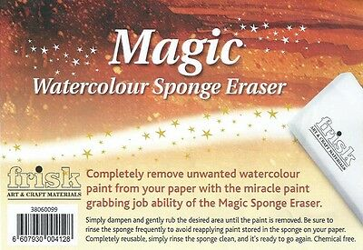 Frisk Magic Watercolour Sponge Erasers - Pack of 4 water colour sponge erasers