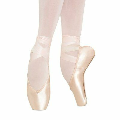 Pink Satin Bloch Axis TMT Pointe Shoes