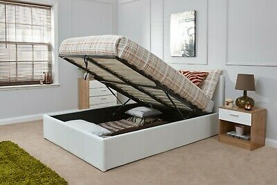 Ottoman Storage Bed 3FT 4FT 4FT6 5FT With Memory Foam Mattress Options 4 Colours