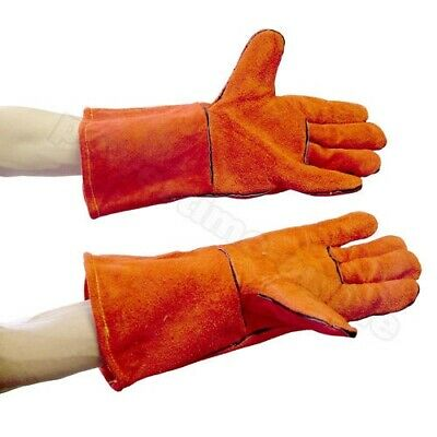 Pair Of Woodburner Stove Gloves High Temperature Resistant Gauntlets Log Fire