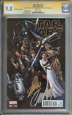 Star Wars #1 Cgc 9.8 50:1 Campbell Variant Signed Stan Lee 1St Day Release