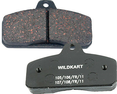 Wildkart Medium Black Rear Pad Set Go Kart Karting Race Racing