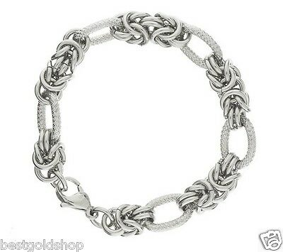All Shiny 7mm Round Byzantine Bracelet Stainless Steel By Design Qvc