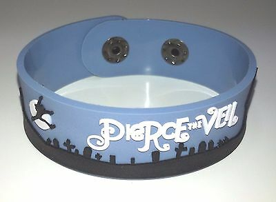 New Pierce The Veil Rubber Bracelet Wristband Unisex Men Blue Souvenirs Day Wb2