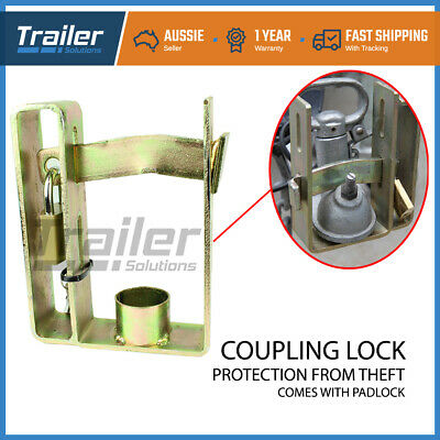 Heavy Duty Coupling Hitch Lock 2 stage Locker and Keys padlock Caravan Trailer