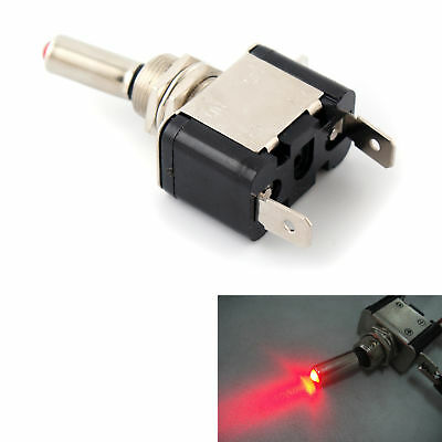 Red 12V Car Auto Cover LED Toggle Switch Flick On Off Switch Missile