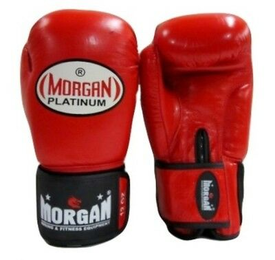 Morgan Dragon Platinum Sparring Leather Boxing Gloves Aba Approved Nsw Amateur