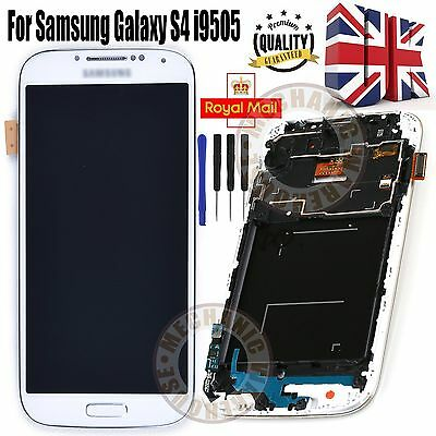 For Samsung Galaxy S4 i9508 i9505 LCD Display Digitizer Touch Screen Frame White