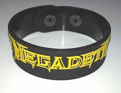 New Megadeth Rubber Bracelet Wristband Unisex Men Black Yellow Souvenirs Day Wb6