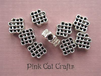 20 x CELTIC KNOT SPACER 6mm Tibetan Silver Beads Findings