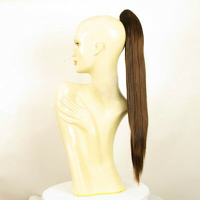 Hairpiece ponytail long 27.56 chocolate copper wick 7/6h30 peruk