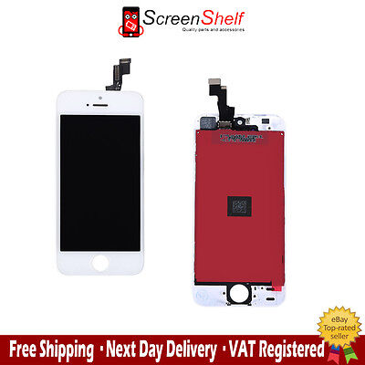 FOR iPHONE 5S WHITE LCD TOUCH SCREEN DISPLAY DIGITIZER GLASS ASSEMBLY