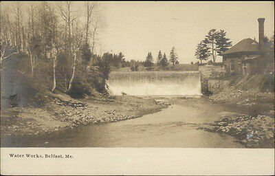 Belfast ME Water Works c1905 Real Photo Postcard