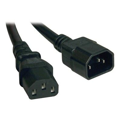 Tripp Lite 1ft Power Cord Extension Cable C14 to C13 Heavy Duty 15A 14AWG 1'
