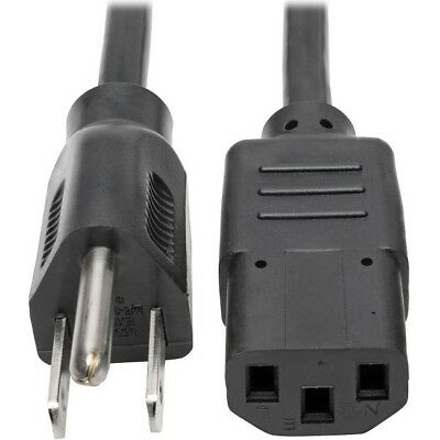 Tripp Lite 3ft Computer Power Cord Cable 5-15P to C13 10A 18AWG 3' P006-003