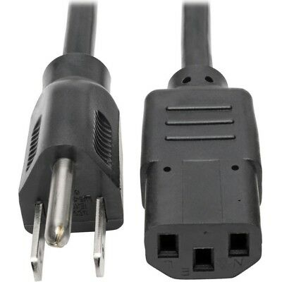 Tripp Lite 1ft Computer Power Cord Cable 5-15P to C13 10A 18AWG 1' P006-001