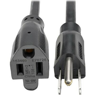 Tripp Lite 3ft Power Cord Extension Cable 5-15P to 5-15R 13A 16AWG 3'