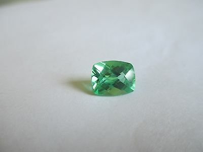 2.58ct Loose Antique Cut Green Quartz Gemstone 9 x 7mm