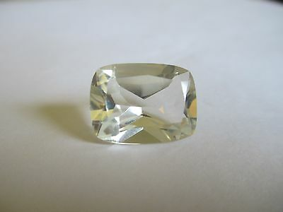 9.08ct Loose Antique Cut Light Green Quartz Gemstone 16 x 12mm