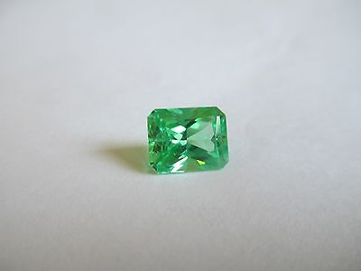 2.83ct Loose Emerald Cut Green Quartz Gemstone 9 x 7mm