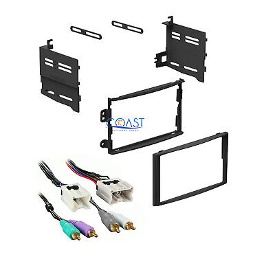 Double DIN Car Stereo Dash Kit Harness w/RCAs for 2003-2005 Nissan 350Z 350 Z