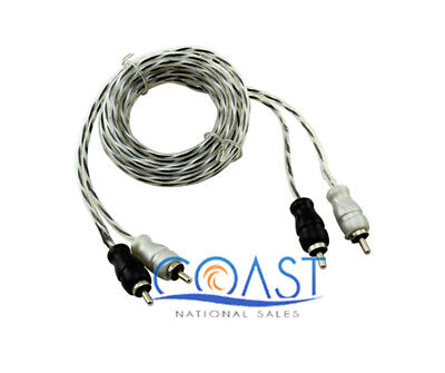 Bullz Audio BSTP15—2 Channel Stereo Spiral Twist RCA Audio Cable (15 Ft.)