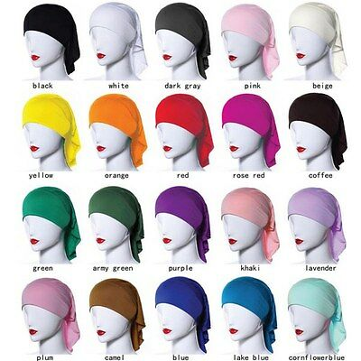 Muslim Women Soft Comfortable Inner Hijab Caps Islamic Underscarf Hats