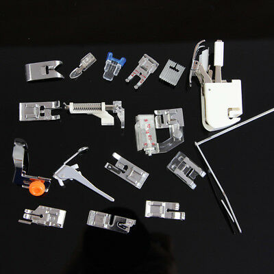 16 pcs Presser Foot Feet Domestic Sewing Machine Part Accessories Set Multi-Use
