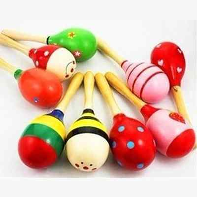 New Baby Kids Sound Music Gift Toddler Rattle Musical Wooden Intelligent Toys
