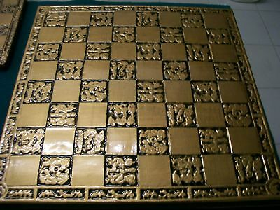 Handcrafted Chess Board 45cm x 45cm - medieval design