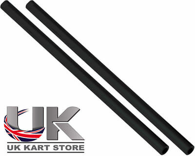 Track / Tie Rod 225mm x M8 Round Black x 2 UK KART STORE
