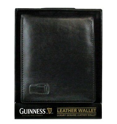 Guinness Pint Leather Wallet Black