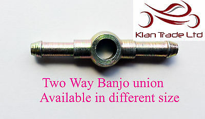 Double two way fuel diesal PLAIN TAIL BANJO EYE UNION LINE HOSE FITTINGS steel