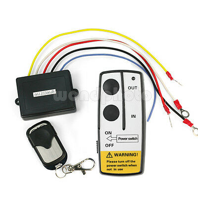 12V 12 Volt Wireless Remote Control Kit for Truck Jeep ATV Winch +Key Fob Remote