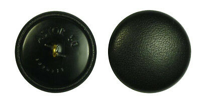 Leather Button Leather Buttons 33 mm black Real leather