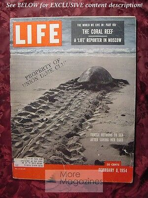 LIFE February 8 1954 SEA TURTLES THE CORAL REEF RUSSIA