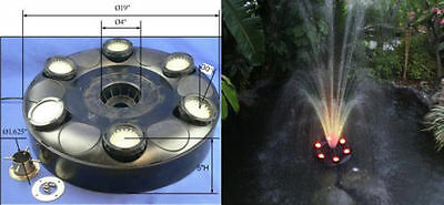 360 RGB LED Color Changing Fountain & Floating Ring Great For Pools & Ponds