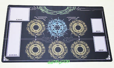 D905 FREE MAT BAG Cardfight Vanguard G Playmat Game Custom Play Mat Blue Circles